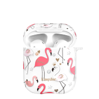 Чехол Kingxbar Flamingo для Apple Airpods Crown